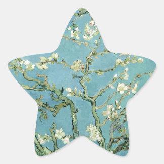 Mandelblommar av Van Gogh Stjärnformat Klistermärke