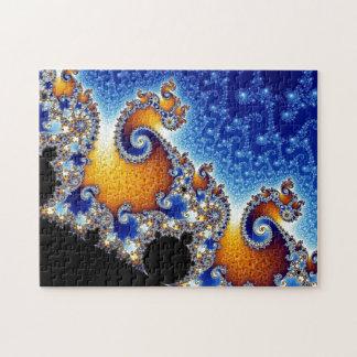 Mandelbrot blått dubblerar spiral Fractal Pussel