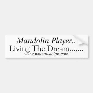 Mandolinspelareklistermärke Bildekal