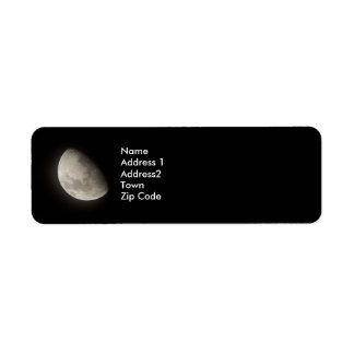 Måne återgång Lables Returadress Etikett