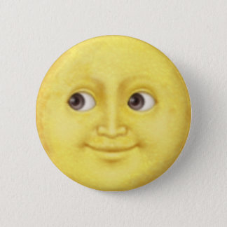Måne Emoji Standard Knapp Rund 5.7 Cm