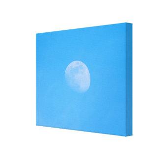 Måne i eftermiddagen canvastryck