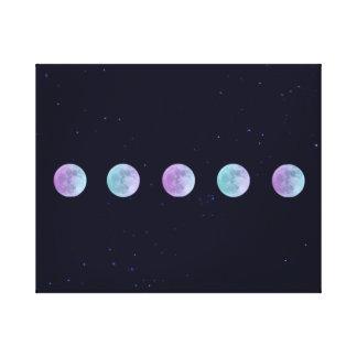 Måne i himmlen för starry natt canvastryck