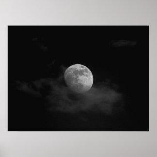 Måne i moln print