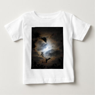 Måne med en kran tröja