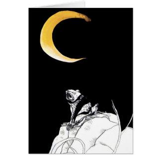 måne och groda hälsningskort