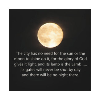 Måne och natt för uppenbarelse 21 inte mer canvastryck