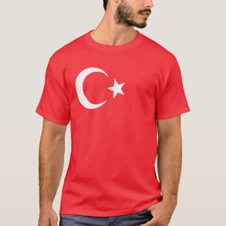 Måne och stjärna för turkisk flagga växande t-shirt