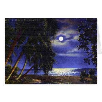 Måne över Miami Beach, 1960 Hälsningskort