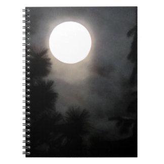 Måneanteckningsbok Antecknings Bok