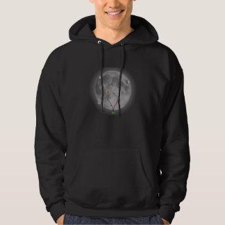 Måneblomma för BÅDE FLICKOR OCH GRABBAR! Sweatshirt Med Luva