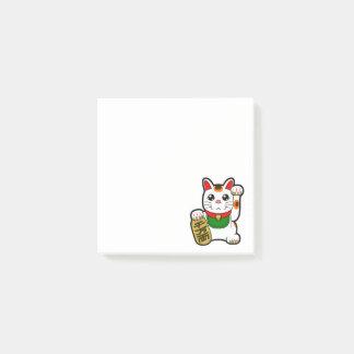Maneki Neko: Japansk lycklig katt Post-it Block