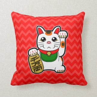 Maneki Neko: Japansk lycklig kattReversible Kudde