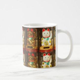 Maneki-neko lycklig katt, Winkekatze Kaffemugg