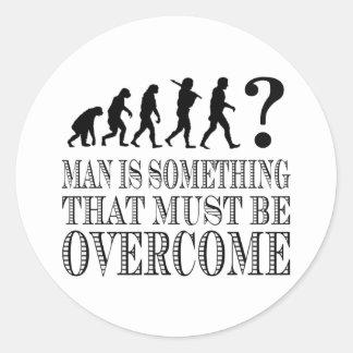 Manen är något som måste vara betagen (Nietzsche) Runt Klistermärke
