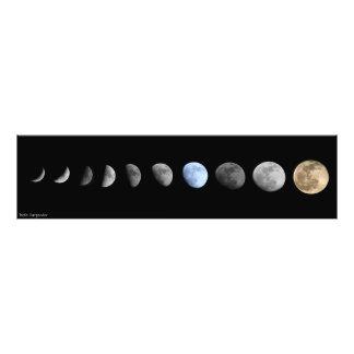 Månen arrangerar gradvis fotokonst