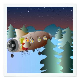 Måneraketjulkort Fyrkantigt 13,3 Cm Inbjudningskort