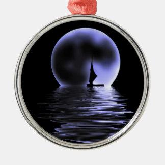 Månesegelbåt Julgransprydnad Metall