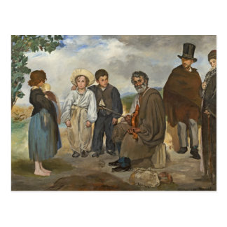 Manet | den gammala musiker, 1862 vykort