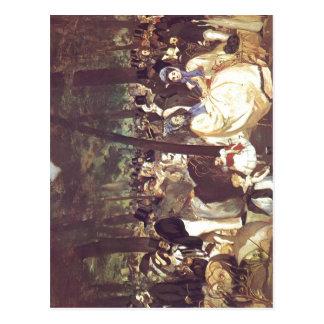 Manet Edouard Musik im Tuileriengarten Techn 1862 Vykort