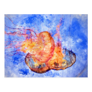 Manet i havvattenfärgen vykort