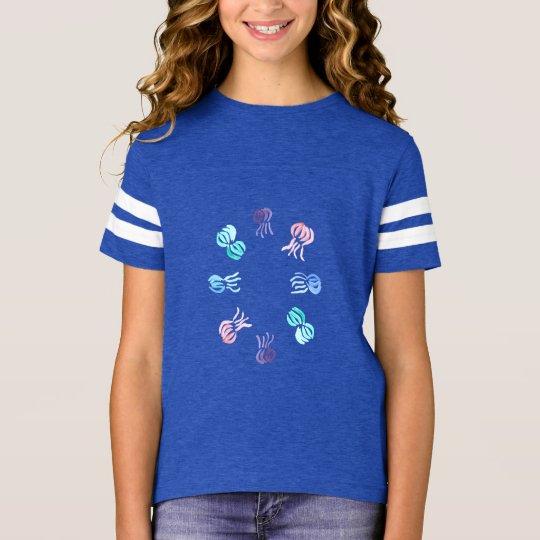 Manetflicka T-tröja för fotboll T-shirts