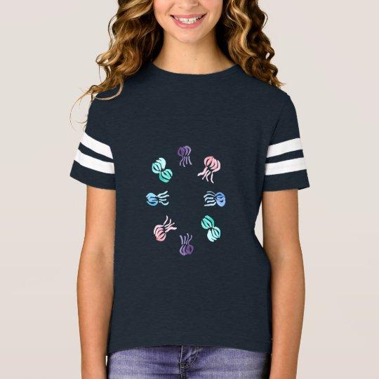 Manetflicka T-tröja för fotboll T Shirts