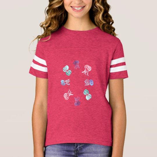Manetflicka T-tröja för fotboll Tee
