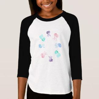 Manetflicka T-tröja för Raglan Tröjor