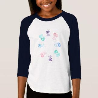 Manetflicka T-tröja för Raglan Tshirts