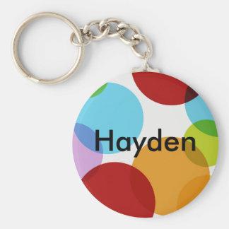 Mång- cirkla beställnings- Keychain Rund Nyckelring