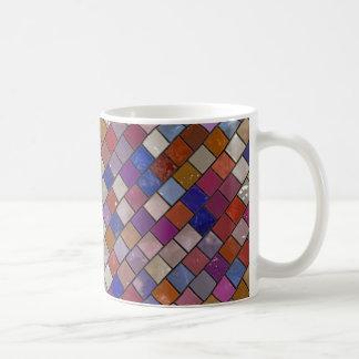 Mång--Färg belägger med tegel mönstermuggen Kaffemugg