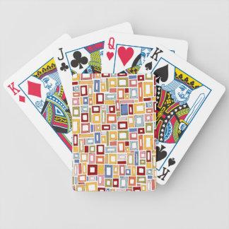 Mång- färg boxas mönster som leker kort spelkort