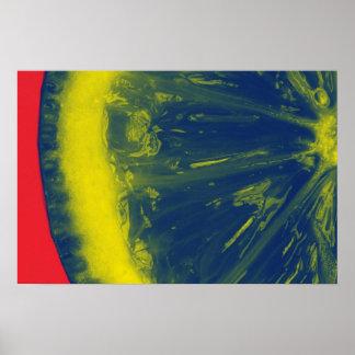 Mång--färg citronaffisch poster