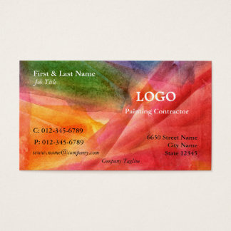 Mång--Färg konstnärlig visitkort