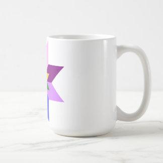Mång--Färg stjärna: Åtta pekar: Kaffemugg