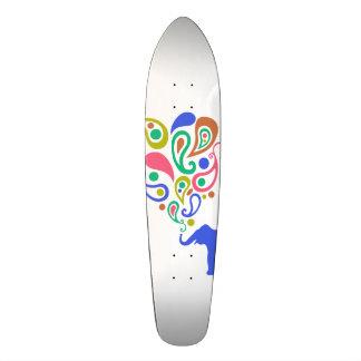 Mång--Färgad design för Paisley elefantmönster Old School Skateboard Bräda 18 Cm