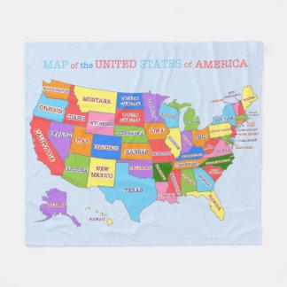 Mång--Färgad karta av Förenta staterna