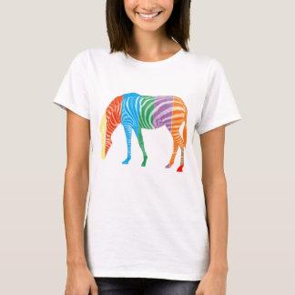 Mång- färgad sebra tee shirt