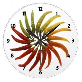 Mång--Färgade hettpeppar tar tid på Stor Klocka