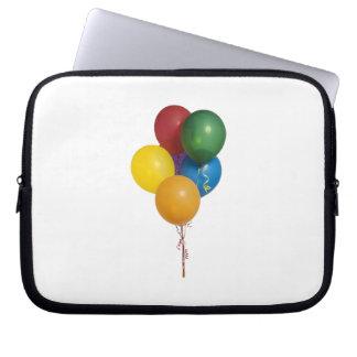 Mång- färgade partyballonger laptopskydd fodral
