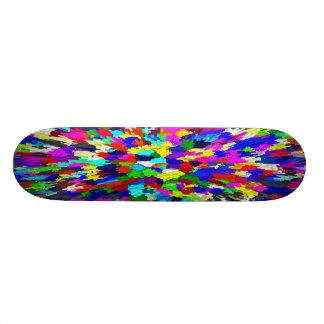 Mång--Färgat kristallmönster Skateboard Bräda 19,5 Cm