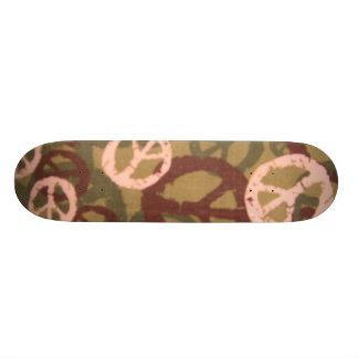 Mång- färgfredssymboler/Camo LookSkateboard Old School Skateboard Bräda 18 Cm