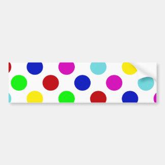 Mång- färgpolka dots bildekal