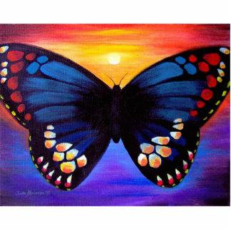 Mång- fjärilsmålningkonst - stående fotoskulptur