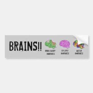 Mång--Hjärna Bildekal