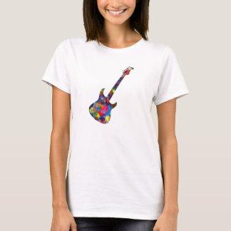 Mång- kulör skjorta för gitarr tröjor