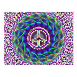 Mång- vykort för fredstecken