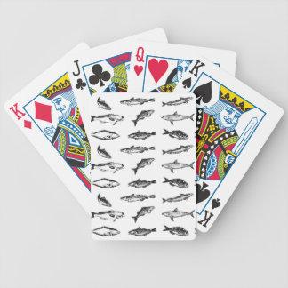 Många fiskar: en samling av fisken spelkort