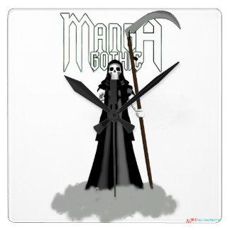"""Manga tar tid på gotisk """"död"""" fyrkantig klocka"""
